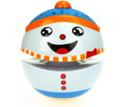 Toylife Baby Musical Tumbler Toy Story Telling Roly-poly Colourful Light Snowman Doll