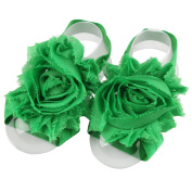 ZebraStory Unisex Baby Barefoot Sandals Elastic Chiffon Cloth Sunflower Foot Band