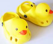 happy little squeaky duck rubber clogs for toddlers. SIZE 18