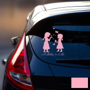 Car Sticker Rear Window Sticker Car Sticker Baby Snow Queen Frozen Children M1872, Pink, L - 22cm breit x 30cm hoch