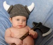 ColorName Baby Infant Boy Girl Hat Toddler Knit Viking Beanie Crochet Handmade Cap