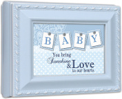 Baby Boy Cottage GardenBlue Finish Small Keepsake Jewellery Box