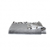 Saranoni Grey Lush/Grey Satin Back Receiving Blanket