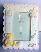 Expressions of Love Handpainted Baby Photo Frame