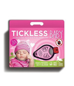 TICKLESS-Baby - Ultrasonic device to the Diversion from Ticks and Floehen at the Baby/Toddler - pink