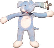 Snuggieboo Pacifier Holder - Elephant with Rattle - Funny Plush Stuffed Animal Toy Doll Leash Clip. Will Hold Most Loop Pacifiers 100% Washable Polyester Material. Lifetime Guarantee