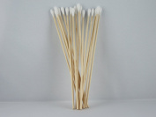 Cotton Buds 100 Pcs Small Head on One Side 150 mm Wood Cotton Buds Non-Sterile