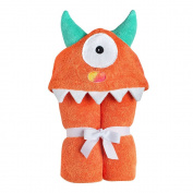 Yikes Twins Child Hooded Towel - Orange One Eyed Monster