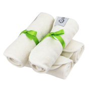 QTPIE Snuggly Soft Bamboo Double Ply Baby Bath Washcloths, 4 Pack