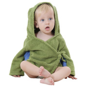 DINGANG® Baby Bathrobe Towel Hooded Baby Romper 0-12 Months,Army Green