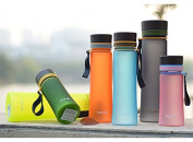 SVI sports water bottle Stylish simplicity portable space cup plastic iopened cup 400ml / 600ml summer water bottle cups Blue 400ML