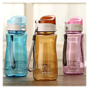 SVI [Gift Puer Tea]MOK Leak-Proof Seal Transparent Large Capacity Nozzle Sports Plastic Water Bottles With Cover Lip Filter 550ml