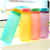 SVI My Water Bottle 450ml 2015 Summer Frosted Marca Dragon Cartoon Cup Summer Candy Colour Portable Plastic Cup Students with Glasses purple