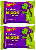 Dr Alex's #On-The-Go! TODDLER WIPES - 60 Strawberry-Scented Moist Wipes Per Pack - 2 Pack Bundle