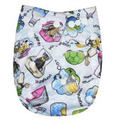 See Nappies Organic Bamboo Terry Baby Cloth Nappy - 2 Bamboo Inserts Travel