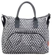 SALE | Luxury Changing Bag Nappy Bag Nappy Tote Black (Triangle