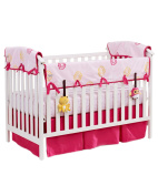 Babee Talk Eco-Teether Crib Rail Cover and Toys, 130cm x 30cm , Pink