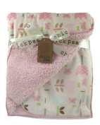 Baby Blanket Butterflies Flowers Reversible to Sherpa