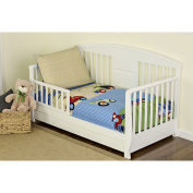 Dream On Me 4 Piece Toddler Bedding Set, Travel Time