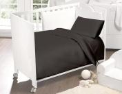 Love2Sleep 100% EGYPTIAN COTTON COT BED DUVET COVER 120 X 150 CM & PILLOWCASE SET : CHARCOAL