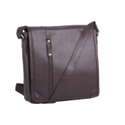 Benjamin Brown Men's Genuine Leather Messenger Bag
