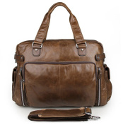 Xhtang Men's Crazy-horse Leather Handbag & Shoulder Bags