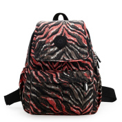 AOTIAN Multi pocketed Small Light weight Fabric Backpack Daypack for Every day use,travel, leisure BROWNZEBRA
