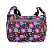 Multicoloured Shoulder Bag with Colourful Floral Pattern-