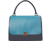 "FIRENSE - Made in Italy, Casual Elegance, Bowling Bag, Shoulder Bag, Soft Leather, 30 × 23 × 19 cm ""Saint Tropez"""