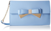 LYDC London Womens Metallic Double Bow Clutch
