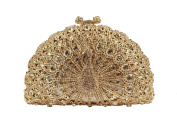 Cadiar Crystal Rhinestone Peacock Shape Ladies Wedding Evening Clutch Bags