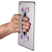 E-Reader / Tablet Hand Strap, MoKo Secure Finger Grip Anti-Slip Handheld Tablet Holder for iPad Mini/iPad Air 2/iPad Pro 9.7, Galaxy Tab E 9.6, E-Readers and Devices Over 14cm - Floral Purple