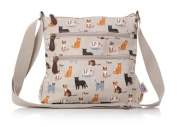 Beautiful RSPCA Kitty Cat and Friends Matte Oilcloth Ladies Messenger Fashion Bag Handbag