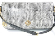 Black Snakeskin Embossed Crossbody Bag Clutch RRP £225