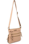 109 LYDC CROSSBODY SINGLE STRAP FAUX LEATHER SMALL SHOULDER BAG Beige