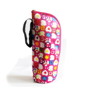 Keysui Durable Baby Thermal Feeding Bottle Warmers Bag Mummy Insulation Tote Bag Hang in the Baby Stroller,Rose Heart
