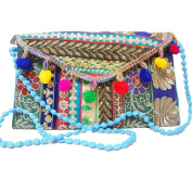 Vintage Style Clutch Banjara Embroidery Ethnic Patchwork Handmade Tribal bag