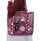 Butterme Mesh Tote Beach Bag Handbag with Large Pocket for Outdoor Picnic Travel Keeps Sand and Water Drains Away