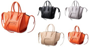 GetThatBag® Katlin Women's Black Orange Grey Beige Top Handle Tote Handbag