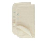 Green Fibres Set of 2 Organic Cotton Muslin Face Cloth
