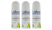 Lafe's Roll On Unscented Deodrant x 3