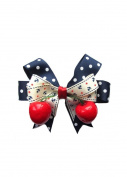 Dolly Cool Polka Dot, Anchor & Cherry Rockabilly Hair Bow Clip Multi