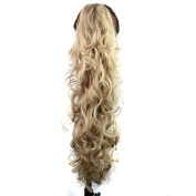 Quibine 80cm Afro Style Wavy/Curly Claw Clip Long Hair Extensions For Black Women, 16#