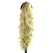 Quibine 80cm Afro Style Wavy/Curly Claw Clip Long Hair Extensions For Black Women, 24B-613#