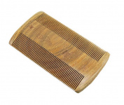 Beard wooden comb, Green sandalwood no static handmade comb, moustache wood comb