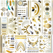 10 Sheets of Silver & Gold Fashion / Style Tattoos