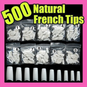 Accmart 500PCS French Style Acrylic Artificial False Nails Half Tips White