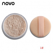 novo Smooth Loose Powder Makeup Transparent Finishing Powder Waterproof Cosmetic For Face Finish Setting With Puff