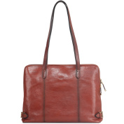 Banuce Italian Vintage Leather Business Multifunction Work Tote Shoulder Bag