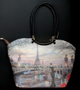 New Design French Vintage Style Handbag Tote Canva Bag Paris Eifell Madame Gift Idea for Woman Girl